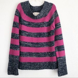 Energie Striped Knit Sweater. Sz large.